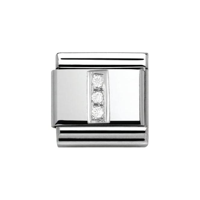 Nomination Composable Classic Alphabet Cubic Zirconia And 925 Silver (I)