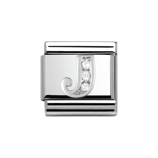 Nomination Composable Classic Alphabet Cubic Zirconia And 925 Silver (J)