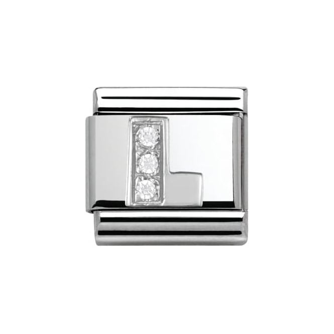 Nomination Composable Classic Alphabet Cubic Zirconia And 925 Silver (L)