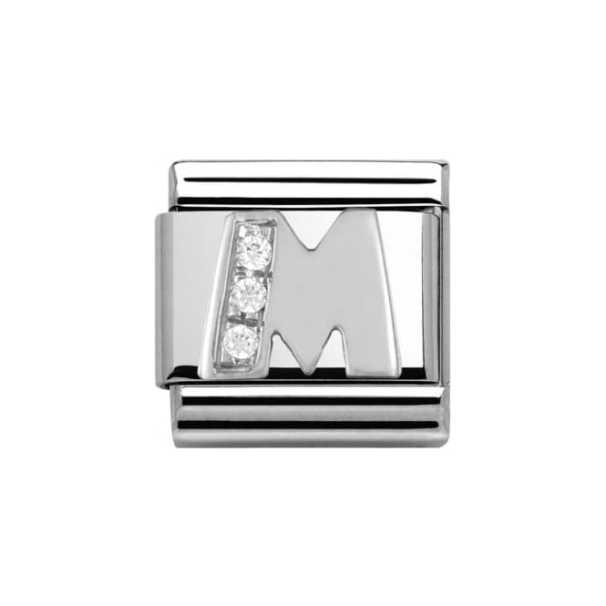 Nomination Composable Classic Alphabet Cubic Zirconia And 925 Silver (M)