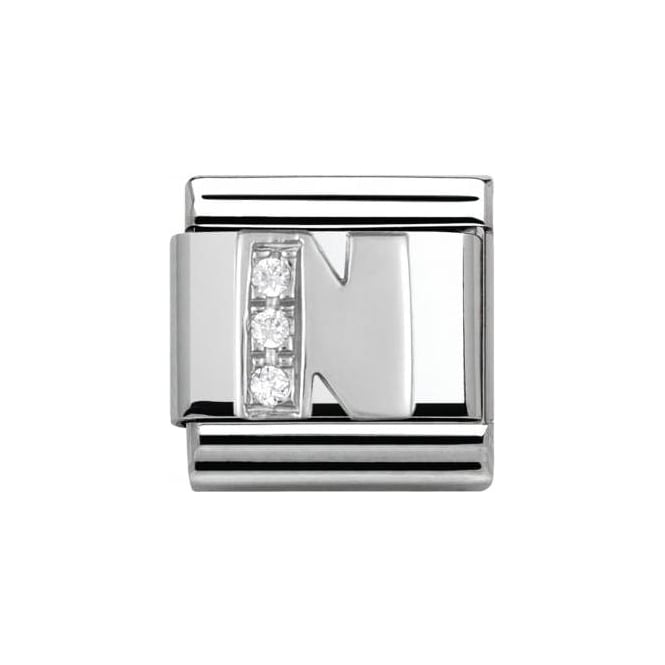 Nomination Composable Classic Alphabet Cubic Zirconia And 925 Silver (N)