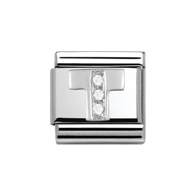 Nomination Composable Classic Alphabet Cubic Zirconia And 925 Silver (T)