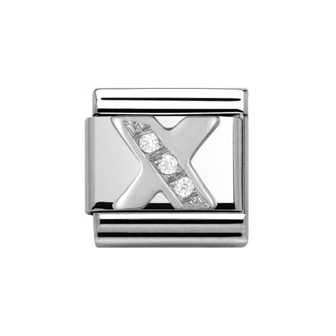 Nomination Composable Classic Alphabet Cubic Zirconia And 925 Silver (X)