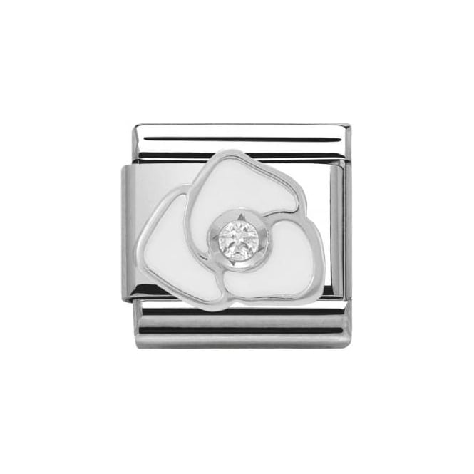 Nomination Composable Classics Symbols Cubic Zirconia (White Rose)