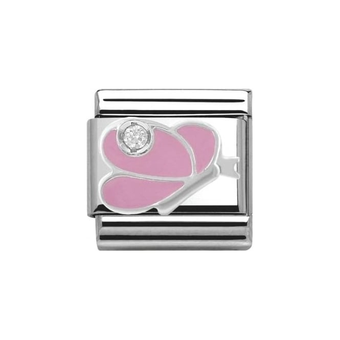 Nomination Composable Classics Symbols Cubic Zirconia (Pink Butterfly)