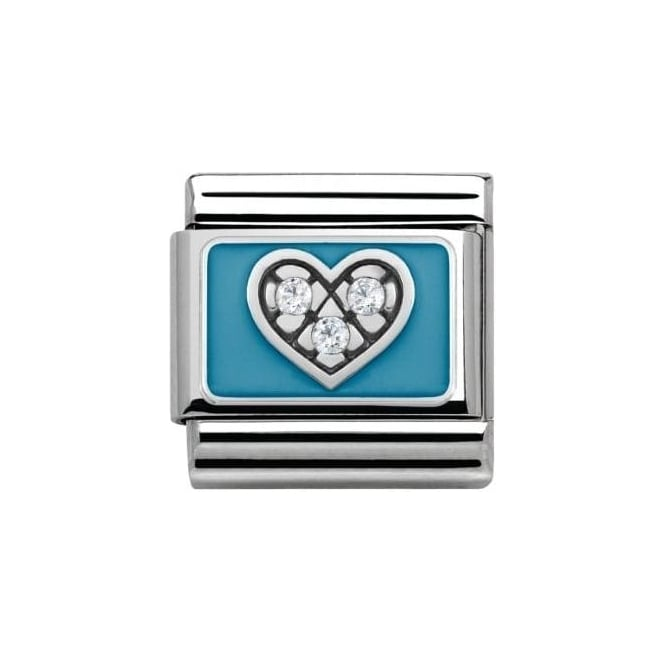 *NOMINATION ITALY Blue Heart Charm