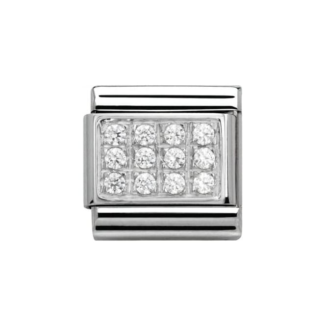 Nomination Composable Classic Pave With Cz White