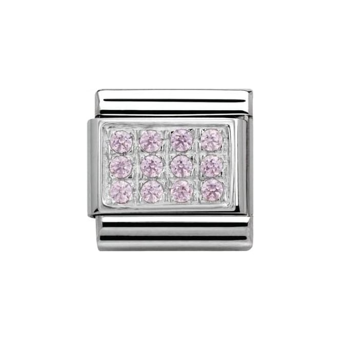 Nomination Composable Classic Pave With Cz Pink