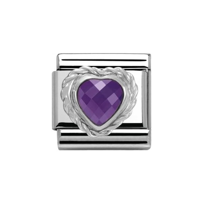 Nomination Cl Heart Faceted Cz