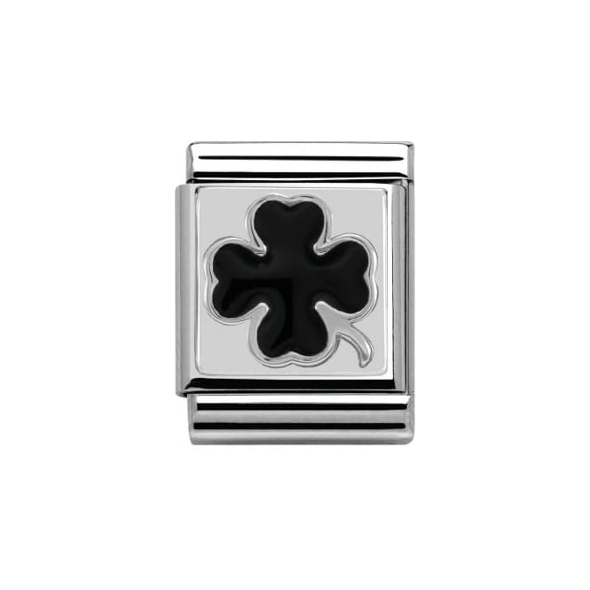 Nomination Four Leaf Clover Black