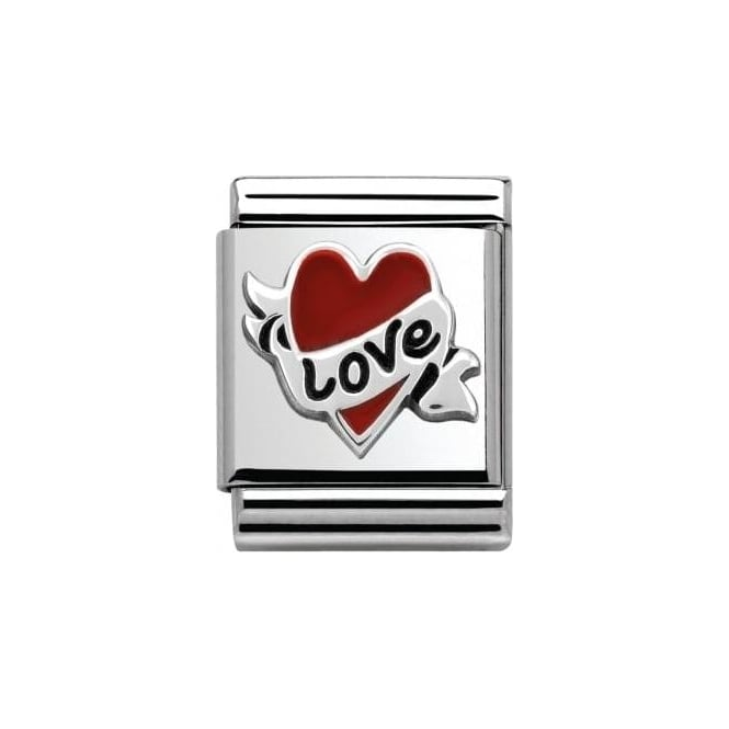 Nomination Heart With Bow Love Charm