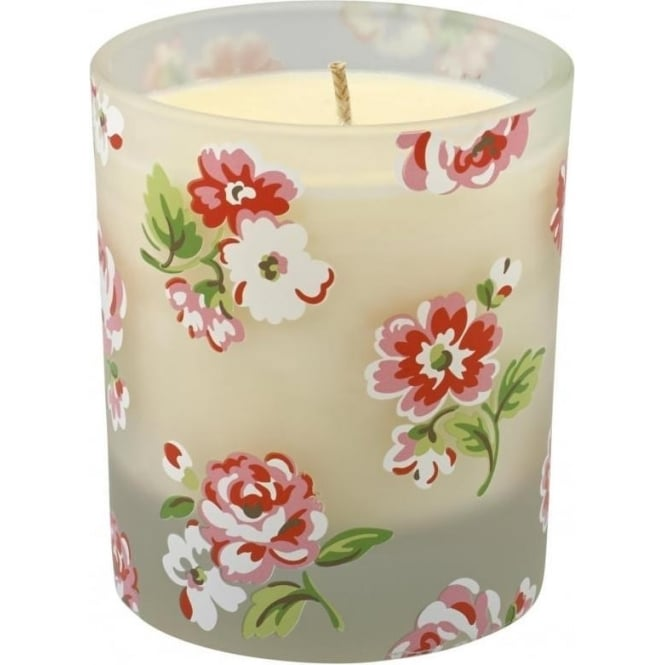 Cath Kidston Single Wick Boxed Glass Candle Ashdown Rose White 616829
