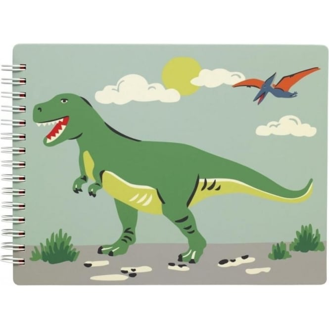 Cath Kidston Novelty note pad Dino Stripe Multi 624411