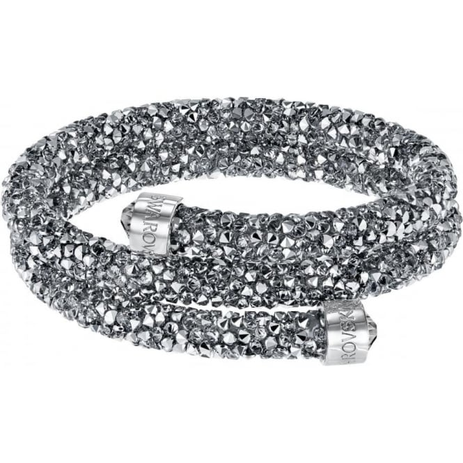 Swarovski Double Crystaldust Bangle Gray (S)