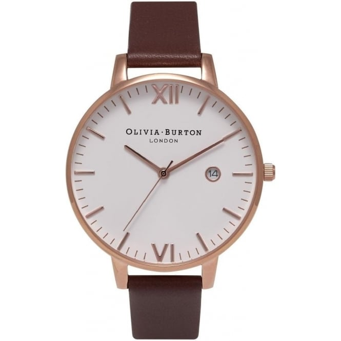 59fe03299 Olivia Burton Timeless Brown And Rose Gold Watch OB15TL01