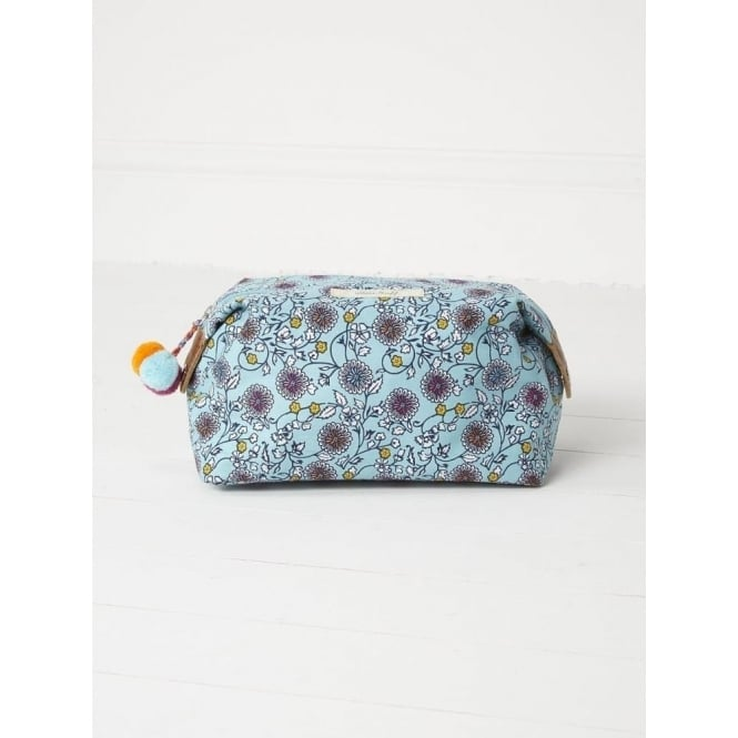 White Stuff Mint Floral Wash Bag