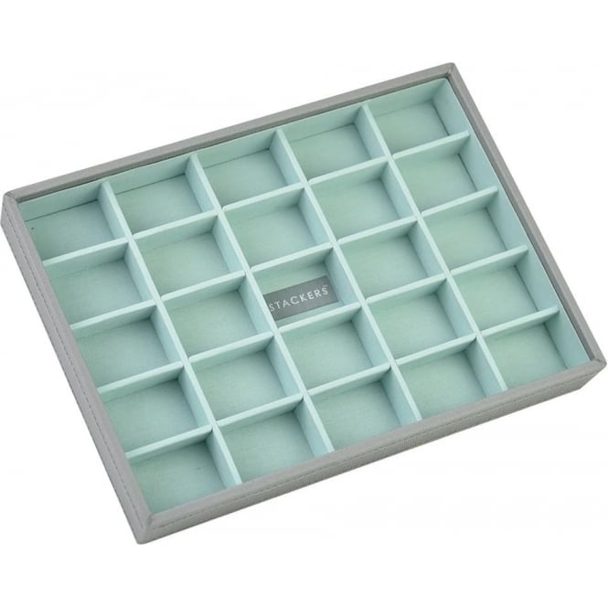 Stackers Dove Grey & Mint Classic 25 Section Stacker 73548