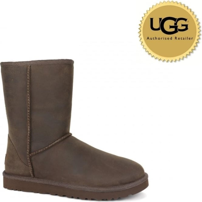UGG Womens Classic Short Leather Boot
