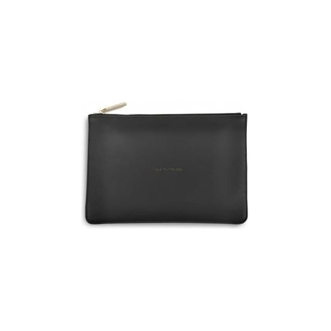 Katie Loxton Talk To The Bag Perfect Pouch in Charcoal