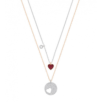 Swarovski Crystal Wishes Red Heart Pendant Set