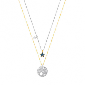 Swarovski Crystal Wishes Blue Star Pendant Set