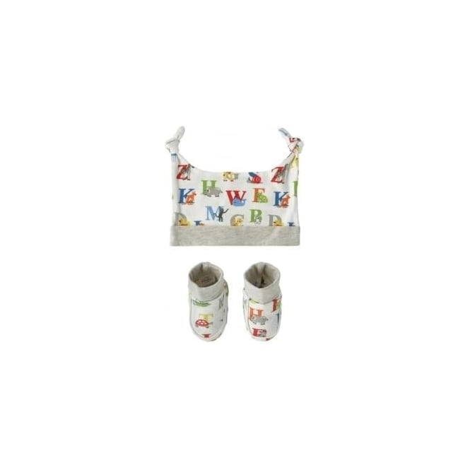 Cath Kidston Animal Alphabet Multi Hat and Bootie Gift Set 648301