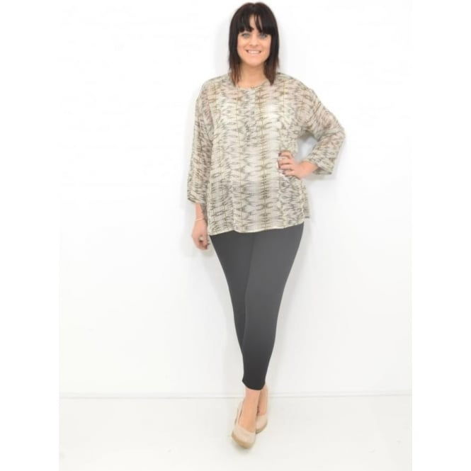 Masai Clothing Deon Straight Top ¾ Sleeved