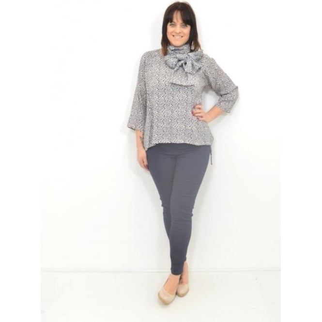 Masai Clothing Davida Rag Sleeved A-Shaped Top