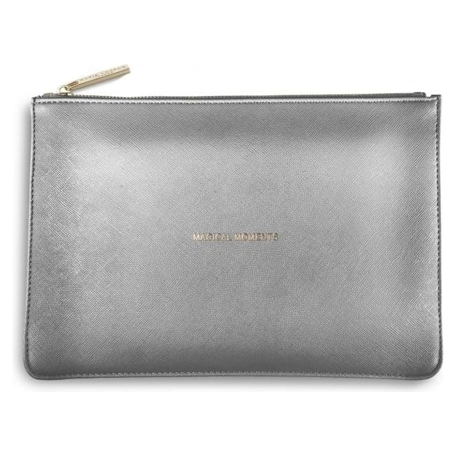 Katie Loxton Magical Moments Perfect Pouch in Metalic Charcoal