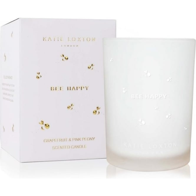 Katie Loxton Bee Happy Grapefruit And Pink Peony Candle