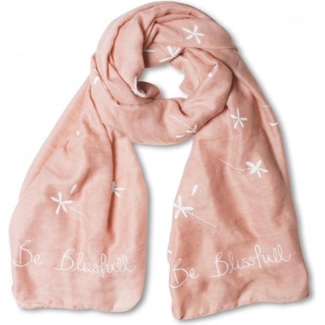 Katie Loxton Be Blissful Scraf in Pale Pink