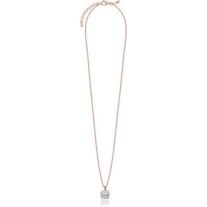 Joma Jewellery Penelope - Necklace - Silver And Rose Gold Cushion Shape Pave