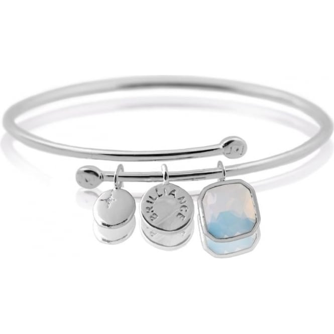 Joma Jewellery Story Bangle - Brilliance - Bangle - Silver White Moonstone Crystal