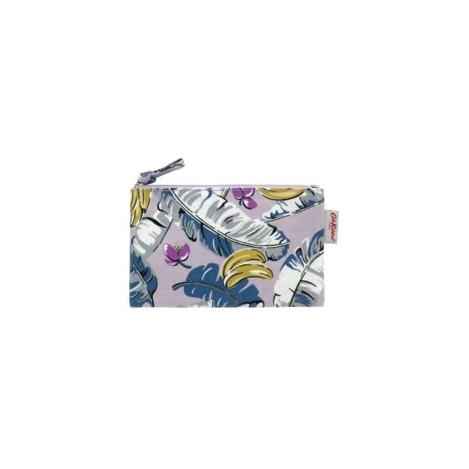 Cath Kidston Zip Purse Banana Leaves Soft Lilac