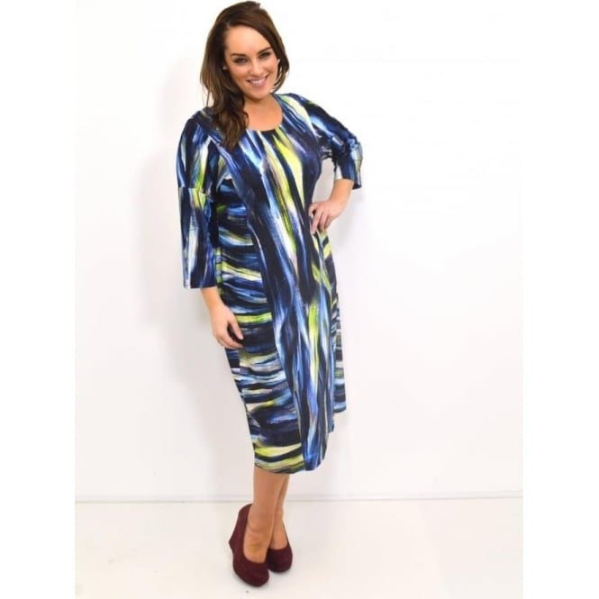 Sahara Artistic Print Jersey Dress