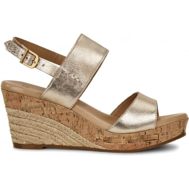 UGG Elena Metallic Wedges