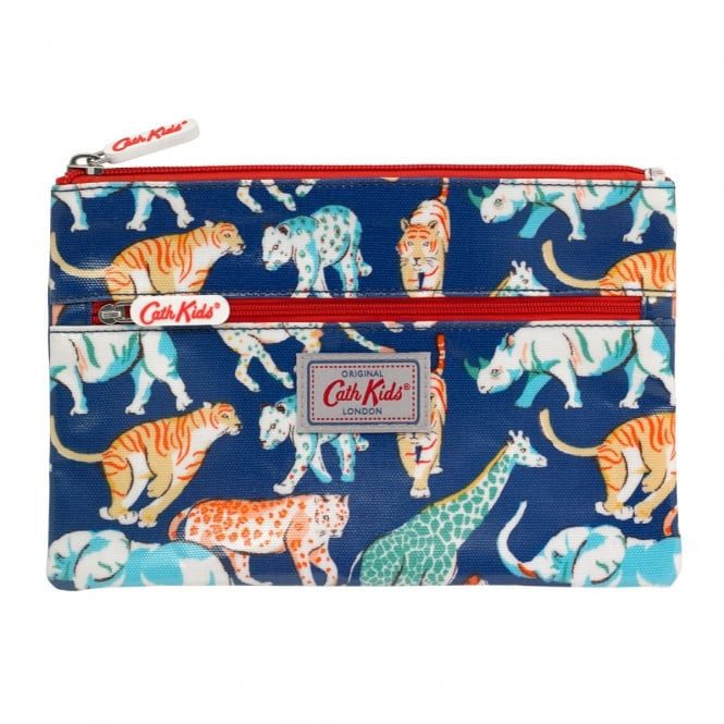 Cath Kidston Kids Safari Animals Double Zip Pencil Case