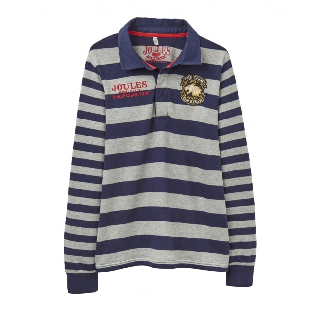 Joules Boys Arnie Striped Rugby Top