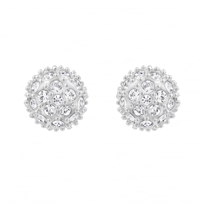 Swarovski Emma Pierced Earrings in White and Rhodium Plating