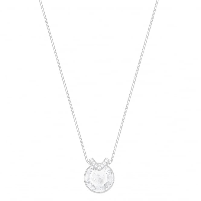 Swarovski Bella 'V' Pendant in Silver and White