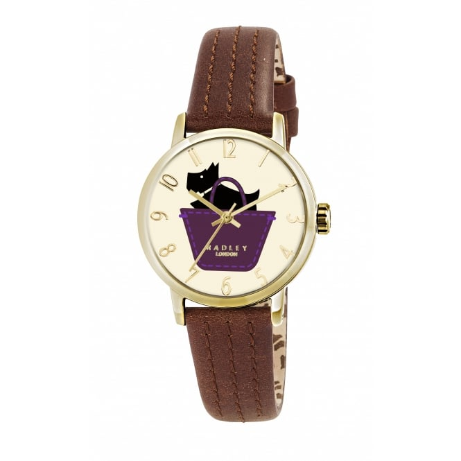 Radley Border Tan Leather Strap Watch