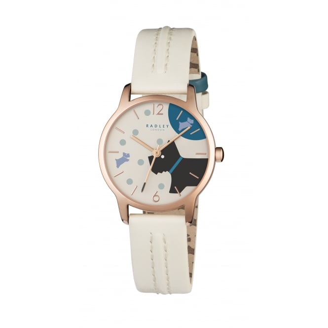 Radley Over The Moon Blonde Leather Strap Watch