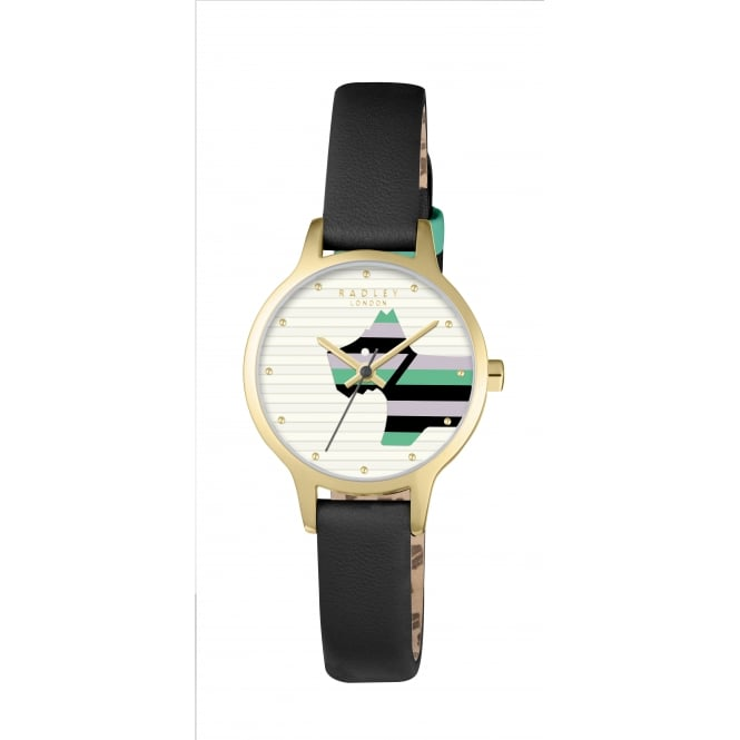 Radley Willow Black Leather Strap Watch