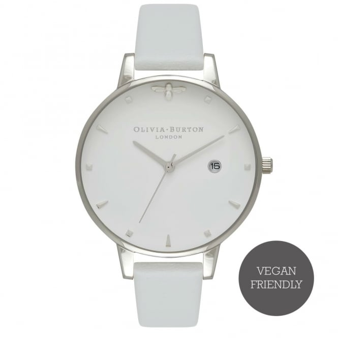 Olivia Burton Queen Bee Vegan Grey And Silver Watch