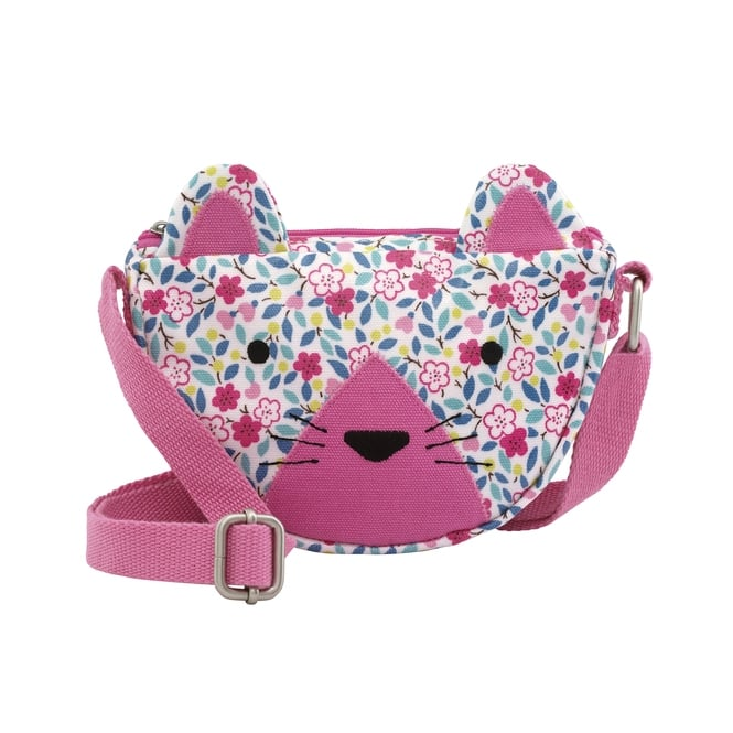 Cath Kidston Kids Littlemore Flowers Cat Handbag in White Multi