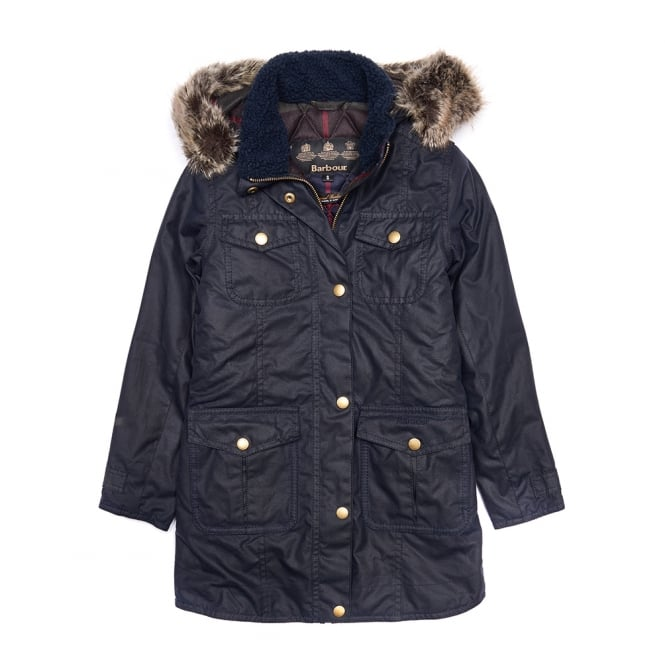 Barbour Girl's Ashbridge Waxed Jacket
