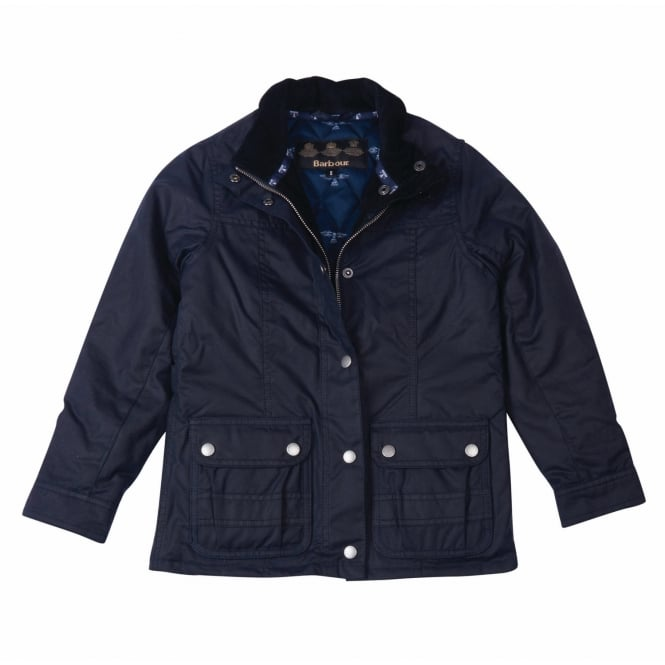 Barbour Girl's Trow Waxed Jacket