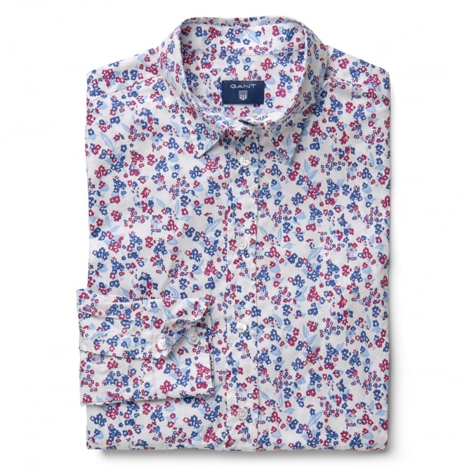 Gant Women's Stretch Broadcloth Mini Floral Shirt
