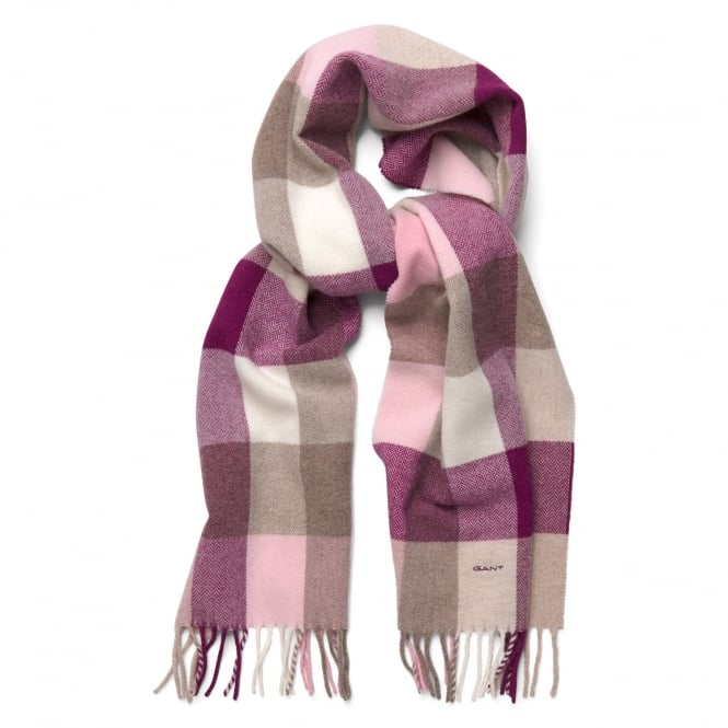 Gant Womens Multicheck Lambswool Scarf