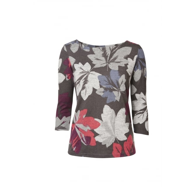Lily and Me Women's Angela Top Winter Leaf